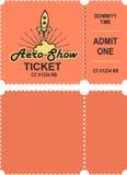 Το Aero παρουσιάζει εισιτήριο Στοκ Φωτογραφία