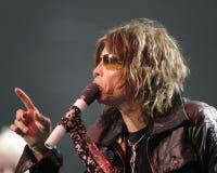 Το Aerosmith αποδίδει στη συναυλία στοκ εικόνα