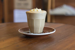 Το Affogato είναι ένας καφές με το παγωτό βανίλιας Στοκ Φωτογραφίες