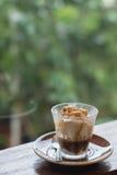 Το Affogato είναι ένας καφές με το παγωτό βανίλιας Στοκ φωτογραφία με δικαίωμα ελεύθερης χρήσης