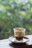 Το Affogato είναι ένας καφές με το παγωτό βανίλιας Στοκ εικόνες με δικαίωμα ελεύθερης χρήσης
