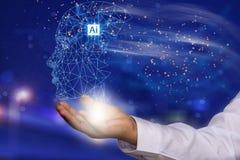 Το AI ή η τεχνητή νοημοσύνη είναι στο μέλλον στα χέρια της ανθρωπότητας, ανάλογα με το χρήστη και τους εμπειρογνώμονες που χρησιμ στοκ εικόνα με δικαίωμα ελεύθερης χρήσης