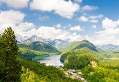 Το Alpsee είναι μια λίμνη στη Βαυαρία, Γερμανία Στοκ Εικόνα