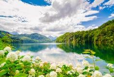 Το Alpsee είναι μια λίμνη στη Βαυαρία, Γερμανία Στοκ Φωτογραφία