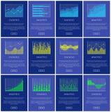 Το Analytics και οι στατιστικές σχεδιάζουν τη διανυσματική απεικόνιση απεικόνιση αποθεμάτων