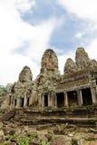 το angkor bayon Καμπότζη συγκεντρώνει siem το ναό Στοκ Εικόνες