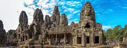Το Angkor Thom, ναός Bayon, Siem συγκεντρώνει στο ηλιόλουστο πρωί Στοκ Εικόνες