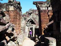 Το Angkor Thom, Siem συγκεντρώνει την Καμπότζη Στοκ εικόνες με δικαίωμα ελεύθερης χρήσης