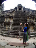 Το Angkor Wat, αρχαίο lanmark, Siem συγκεντρώνει, Καμπότζη Στοκ φωτογραφία με δικαίωμα ελεύθερης χρήσης