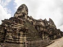 Το Angkor Wat, αρχαίο lanmark, Siem συγκεντρώνει, Καμπότζη Στοκ Φωτογραφία