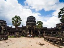 Το Angkor Wat, αρχαίο lanmark, Siem συγκεντρώνει, Καμπότζη Στοκ εικόνα με δικαίωμα ελεύθερης χρήσης