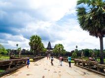 Το Angkor Wat, αρχαίο lanmark, Siem συγκεντρώνει, Καμπότζη Στοκ Εικόνα