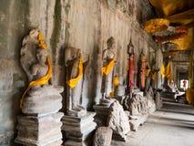 Το Angkor Wat, αρχαίο lanmark, Siem συγκεντρώνει, Καμπότζη Στοκ φωτογραφίες με δικαίωμα ελεύθερης χρήσης