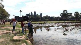 Το Angkor Wat είναι ένας γιγαντιαίος ινδός ναός σύνθετος στην Καμπότζη φιλμ μικρού μήκους