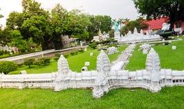Το Angkor Wat είναι ένας ναός σύνθετος στην Καμπότζη στο μικροσκοπικό πάρκο είναι ένας ανοιχτός χώρος που επιδεικνύει τα μικροσκο Στοκ φωτογραφία με δικαίωμα ελεύθερης χρήσης