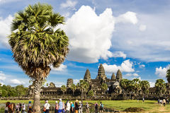 Το Angkor Wat σε Siem συγκεντρώνει Στοκ Φωτογραφία