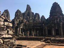 Το Angkor Wat σε Siem συγκεντρώνει, Cambodia Αρχαίες καταστροφές του Khmer ναού πετρών Bayon Στοκ εικόνες με δικαίωμα ελεύθερης χρήσης