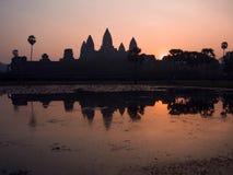 Το Angkor Wat στην ανατολή, Siem συγκεντρώνει, Καμπότζη Στοκ Εικόνα