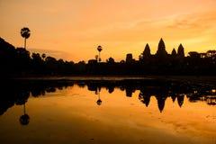 Το Angkor Wat στην ανατολή, Siem συγκεντρώνει, Καμπότζη Στοκ Εικόνες