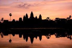 Το Angkor Wat στην ανατολή, Siem συγκεντρώνει, Καμπότζη Στοκ Φωτογραφίες