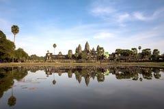 Το Angkor Wat, Siem συγκεντρώνει, Καμπότζη Στοκ φωτογραφία με δικαίωμα ελεύθερης χρήσης