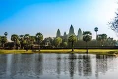 Το Angkor Wat, Siem συγκεντρώνει, Καμπότζη Στοκ εικόνα με δικαίωμα ελεύθερης χρήσης