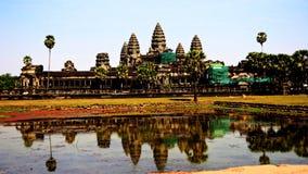 Το Angkor Wat Siem συγκεντρώνει την Καμπότζη Στοκ Εικόνες