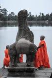 Το Angkor wat siem συγκεντρώνει το βασίλειο της Καμπότζης της κατάπληξης Στοκ Εικόνες