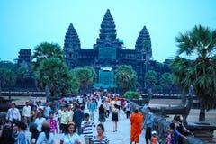 Το Angkor wat siem συγκεντρώνει το βασίλειο της Καμπότζης της κατάπληξης Στοκ Φωτογραφία