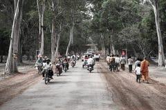Το Angkor wat siem συγκεντρώνει το βασίλειο της Καμπότζης της κατάπληξης Στοκ εικόνα με δικαίωμα ελεύθερης χρήσης