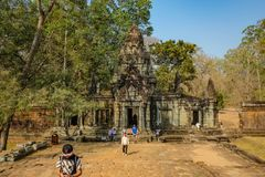 Το Angkor wat Angkor Thom siem συγκεντρώνει στοκ εικόνα με δικαίωμα ελεύθερης χρήσης