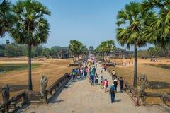 Το Ankor Wat, Siem συγκεντρώνει, Καμπότζη Στοκ Εικόνες