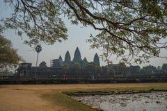 Το Ankor Wat, Siem συγκεντρώνει, Καμπότζη Στοκ Εικόνα