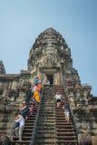 Το Ankor Wat, Siem συγκεντρώνει, Καμπότζη Στοκ εικόνα με δικαίωμα ελεύθερης χρήσης