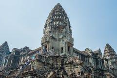 Το Ankor Wat, Siem συγκεντρώνει, Καμπότζη Στοκ Φωτογραφίες