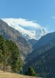 Το Annapurna χτύπησε στο Νεπάλ Ιμαλάια Στοκ Φωτογραφίες