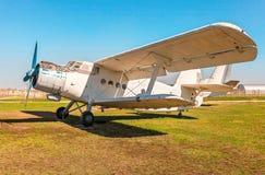 Το Antonov ένας-2 είναι σοβιετικό παραγμένο μαζικά με ένα κινητήρα biplane Στοκ φωτογραφία με δικαίωμα ελεύθερης χρήσης