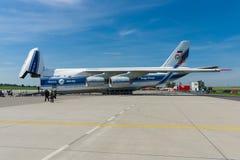 Το Antonov ένας-124 Ruslan είναι ένα αεροσκάφος αεριωθούμενων αεροπλάνων μεταφορών Στοκ εικόνα με δικαίωμα ελεύθερης χρήσης