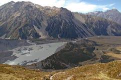 Το Aoraki, τοποθετεί το εθνικό πάρκο Cook, Νέα Ζηλανδία Στοκ Φωτογραφίες