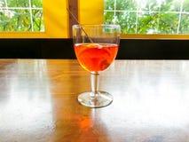 Το aperol spritz στο γυαλί Στοκ Εικόνες
