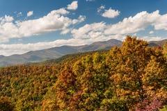 Το Appalachians της δυτικής βόρειας Καρολίνας Στοκ Εικόνα