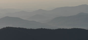 Το Appalachians της δυτικής βόρειας Καρολίνας Στοκ Φωτογραφία