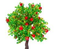 Το Apple-δέντρο έκανε με τα χέρια από τις χάντρες Στοκ φωτογραφία με δικαίωμα ελεύθερης χρήσης
