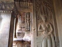 Το Apsara στον τοίχο Angkor Wat σε Siem συγκεντρώνει, Καμπότζη Στοκ φωτογραφία με δικαίωμα ελεύθερης χρήσης
