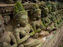 Το Apsara χάρασε στον τοίχο στο TA Prohm Castle, Angkor Wat, Cambod Στοκ φωτογραφίες με δικαίωμα ελεύθερης χρήσης