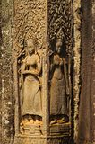 Το Apsaras που χαράζεται στο ναό Bayon, Angkor Thom, Siem συγκεντρώνει, Καμπότζη Περιοχή παγκόσμιων κληρονομιών της ΟΥΝΕΣΚΟ Στοκ Φωτογραφία