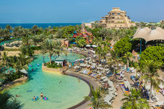 Το Aquaventure waterpark Atlantis Στοκ Εικόνες