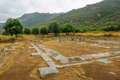 Το Archeological παραμένει στο Argolis Στοκ Εικόνα