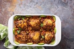 Το Arroz con Pollo, το κοτόπουλο με το ισπανικό ρύζι Στοκ Εικόνες