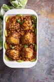 Το Arroz con Pollo, το κοτόπουλο με το ισπανικό ρύζι Στοκ Φωτογραφία